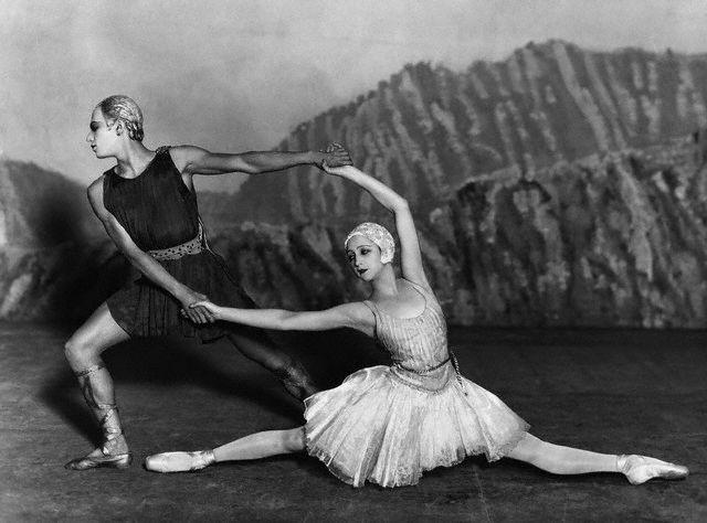 Lifar and Danilova in the Ballet Russes' original Apollon musagete